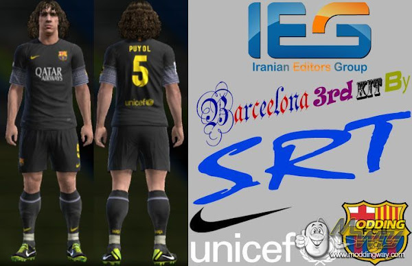 PES 2013 Barcelona FC 2013/14 Third Kit by SRT