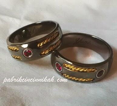 model cincin kawin hitam