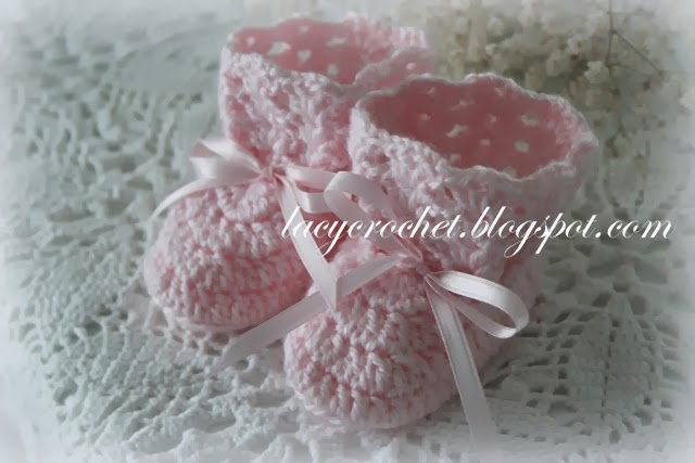 Lacy Crochet: Crochet Baby Booties, Size 0-6 Months, Free ...