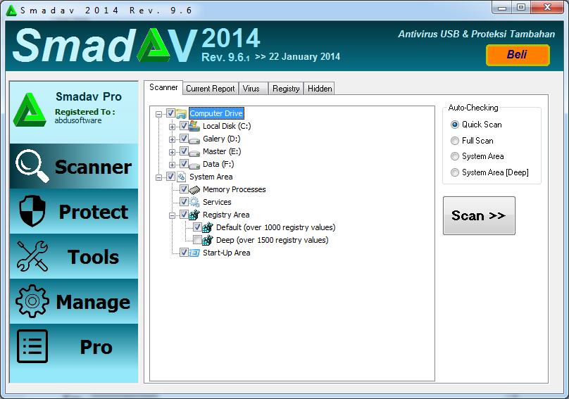 Download SmadAV Pro 9.6.1 Update Terbaru 2014 Full Serial Key