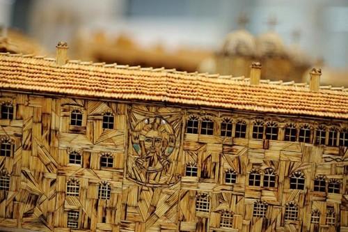 El monasterio de Rila de fósforos