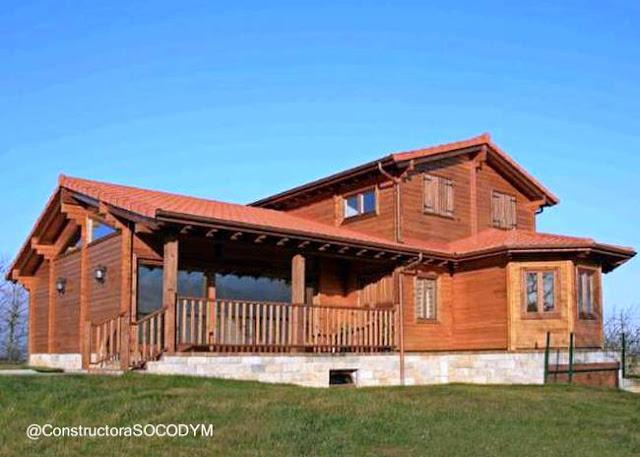 Casa de madera chilena tipo casa americana