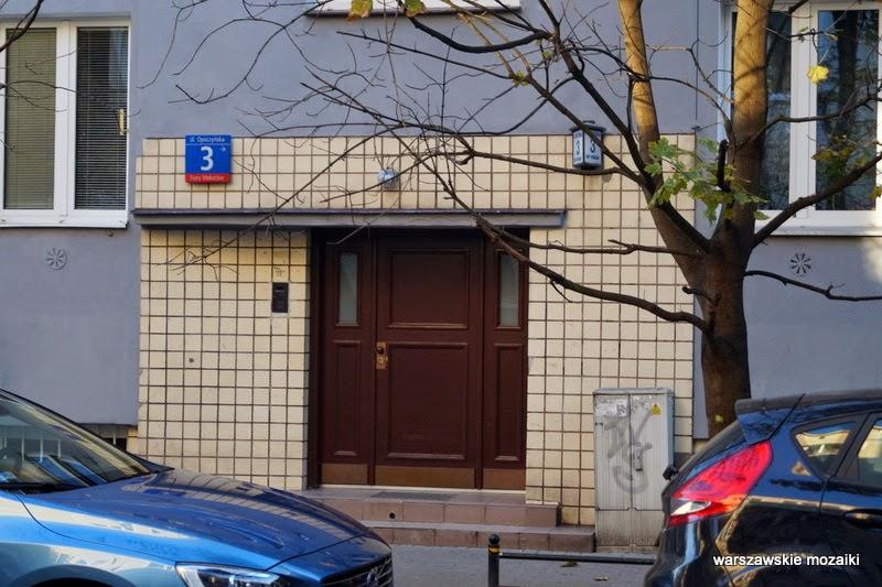 brama Mokotów Warszawa numer domu zabudowa kamienice Stary Mokotów lata 30