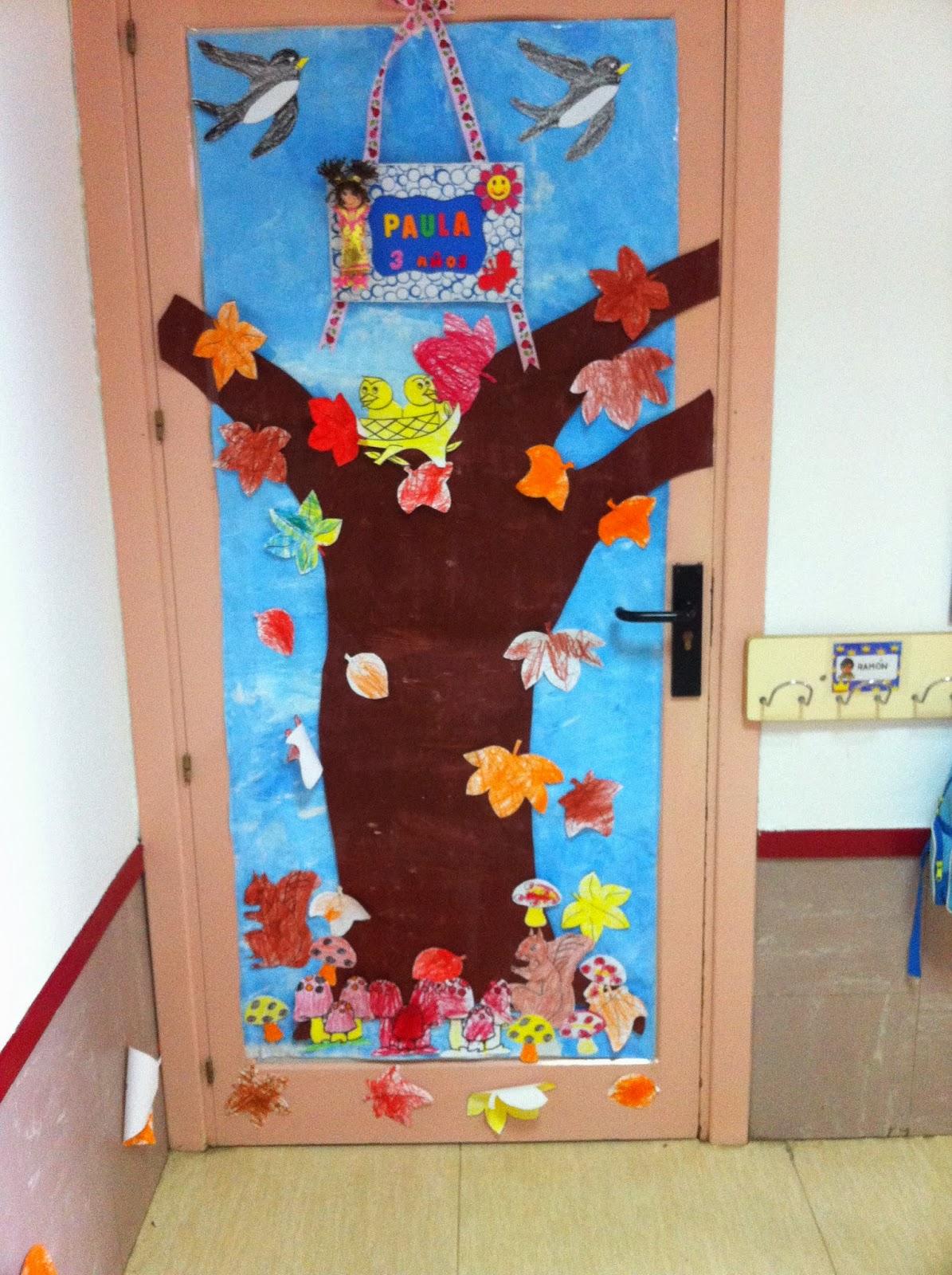 Infantil antonio osuna 3 a os decoraci n de oto o en la for Puertas decoradas para guarderia