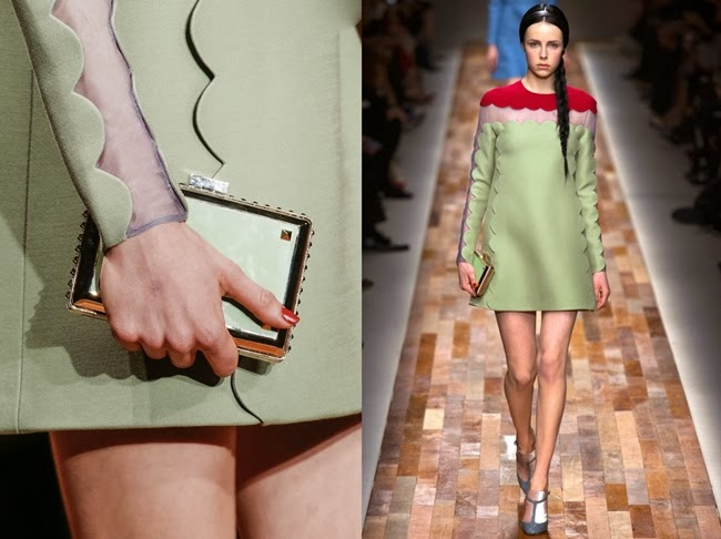Valentino RTW 2013 AW Green & Red Dress