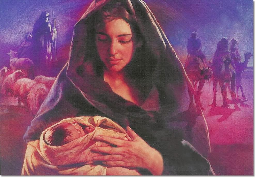Maria o menino Jesus
