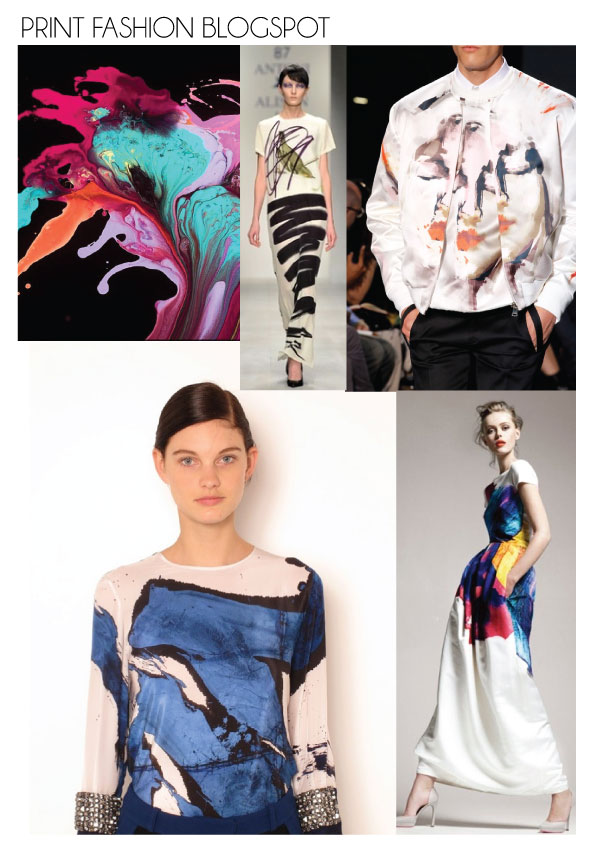 paint prints brush stroke fashion print trend