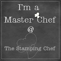 I won a  challenge at the stamping chef