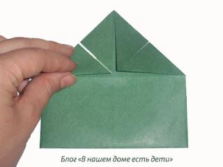 лягушка из бумаги схема