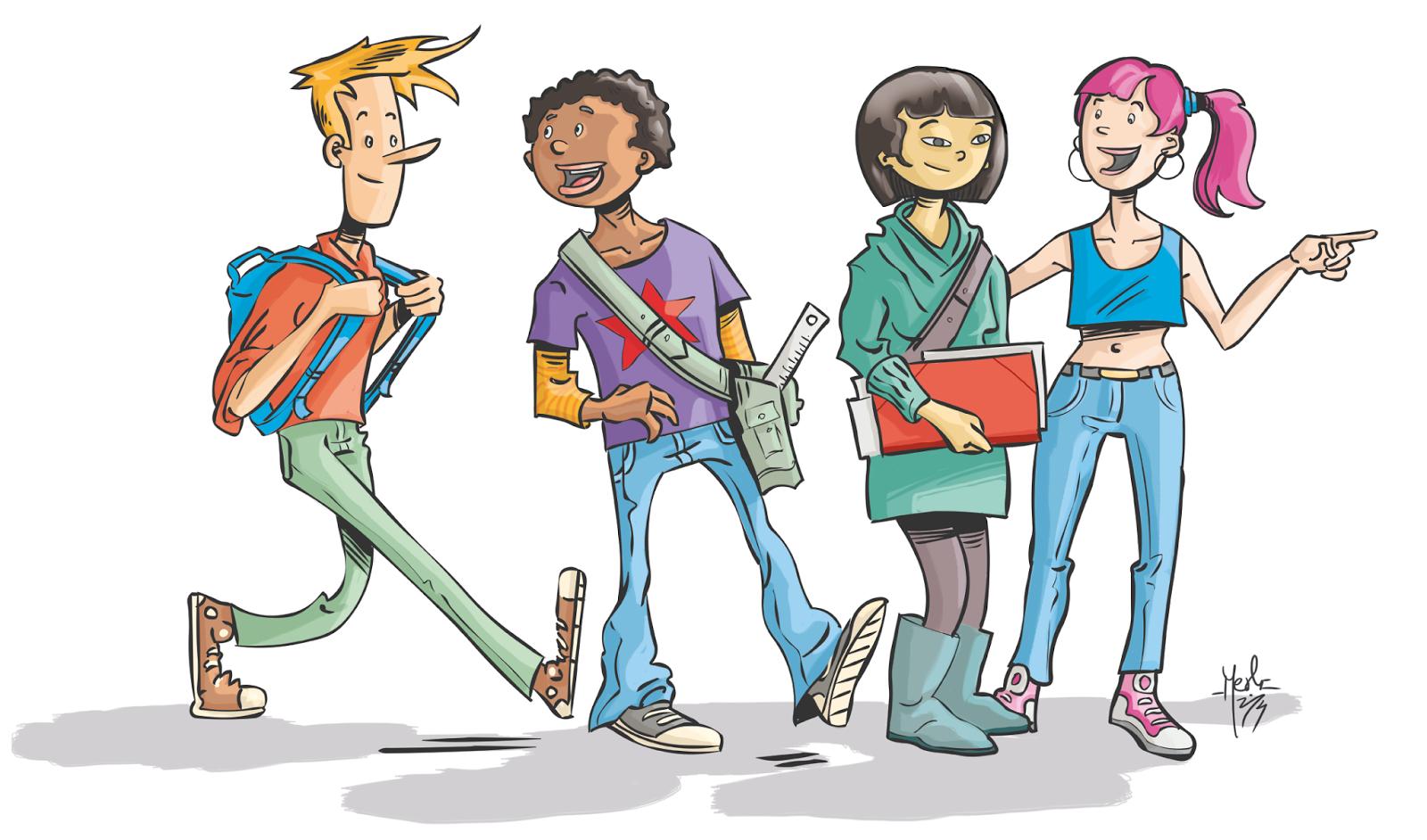 Personajes ilustración juvenil para libro de texto, Merlí Borrell