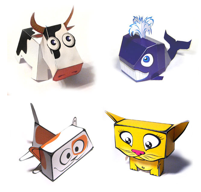 Cute Animals Papercraft Model Paperox Free Papercraft
