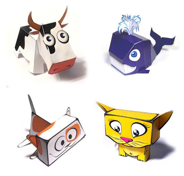 PAPEROX Papercraft Animals Cute PAPERCRAFT Model FREE
