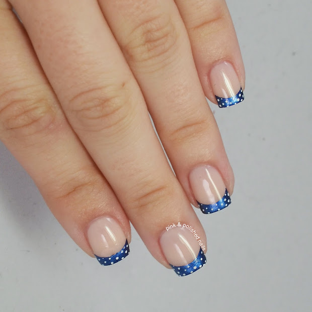 pink & polished navy french tips