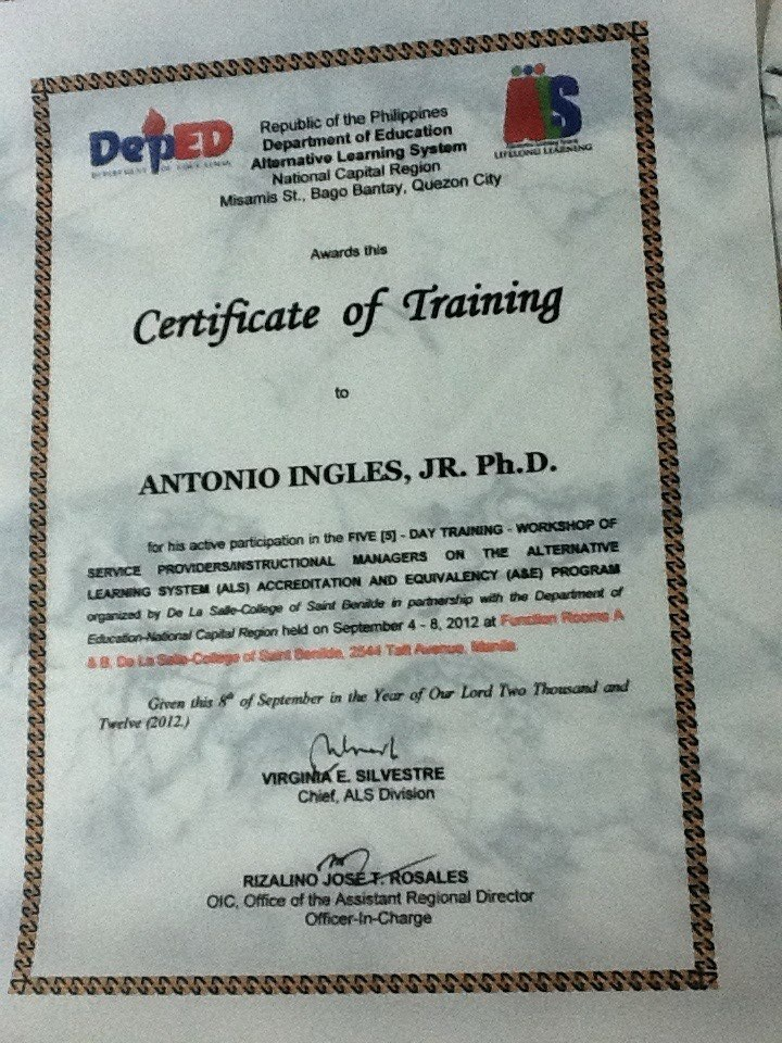Aral Pinoy Alternative Learning System Als Accreditation And