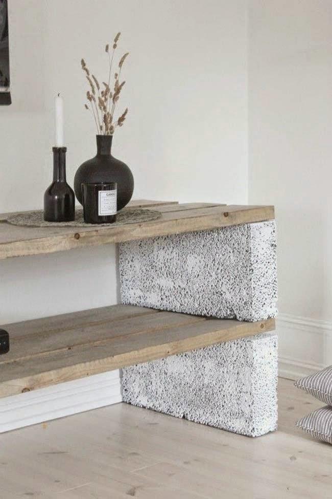 Recyclage de Briques en ciment, Meubles et Décoration Recyclée