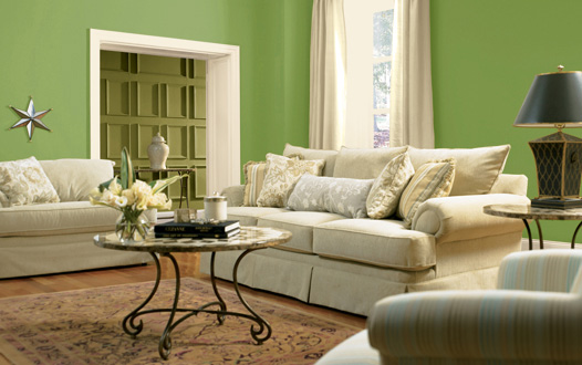 Paint colors for living room Living room ideas with light green walls