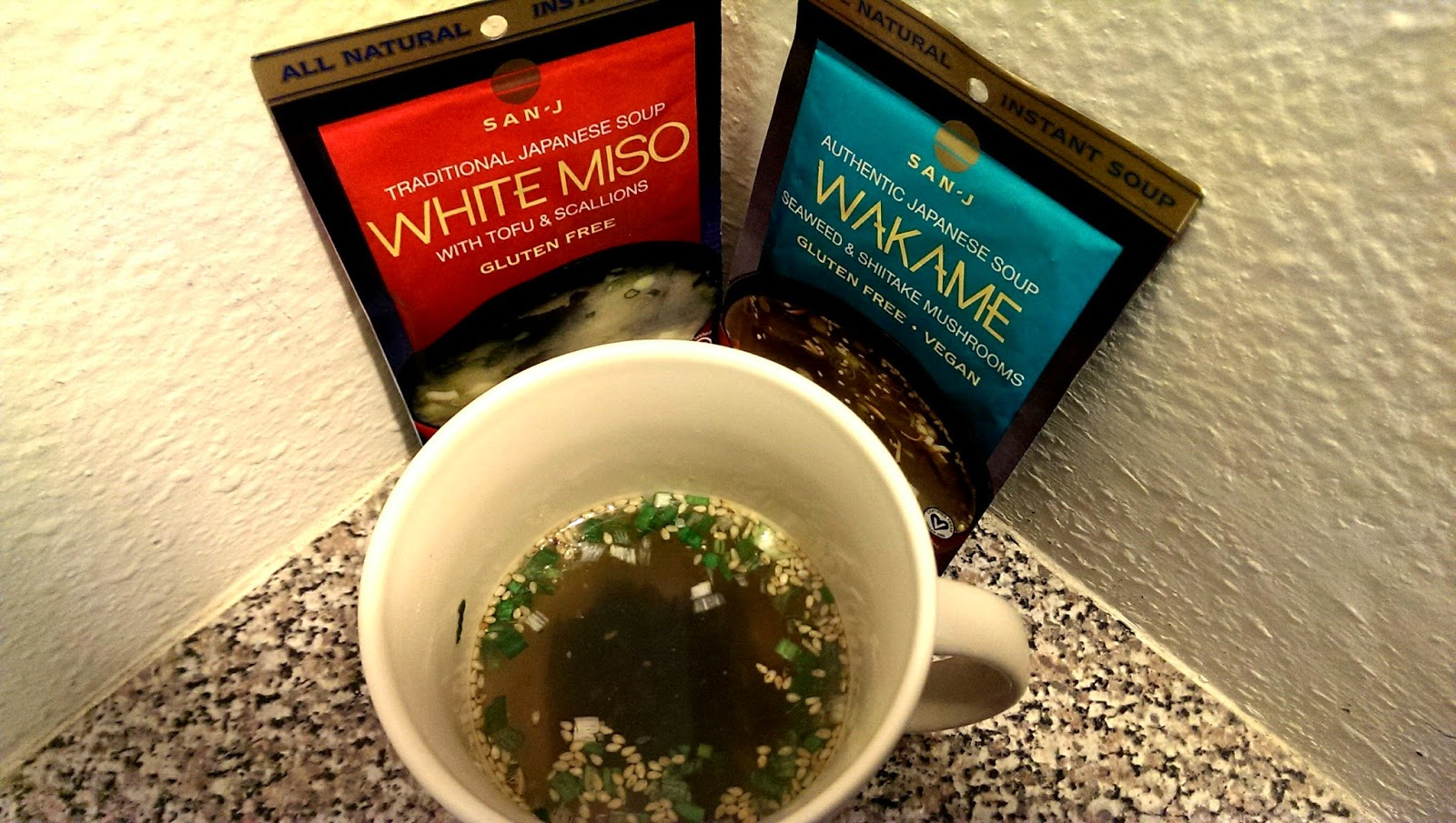 Miso+Soup San-J's New instant Miso and Wakame Soup Review - Japanese Instant Soup