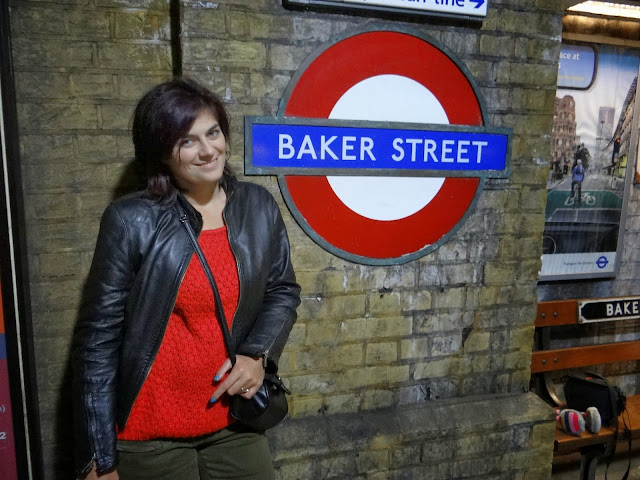 Detective looking, baker street, london