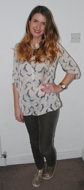 Owl Print Blouse from TK Maxx