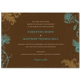 Fresno Wedding Invitations, Rustic Flowers Wedding Invitation