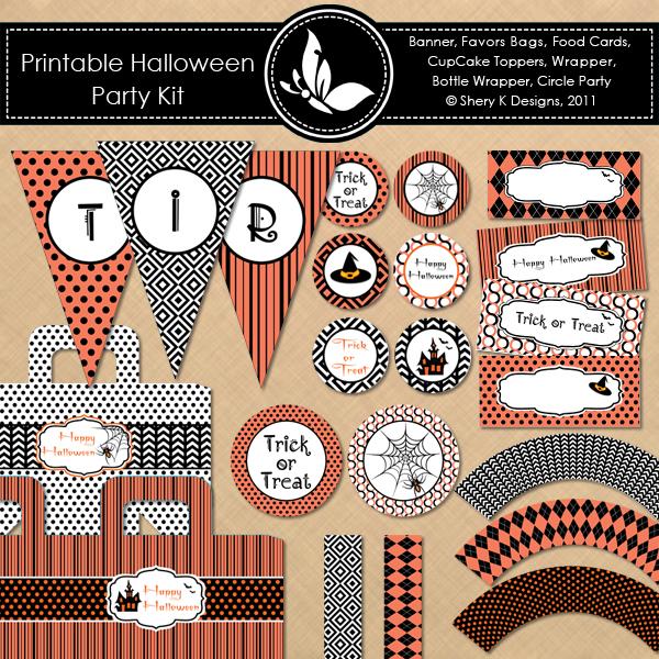 ... : {Freebie} Fun Halloween treat bags & toppers plus Party Printables