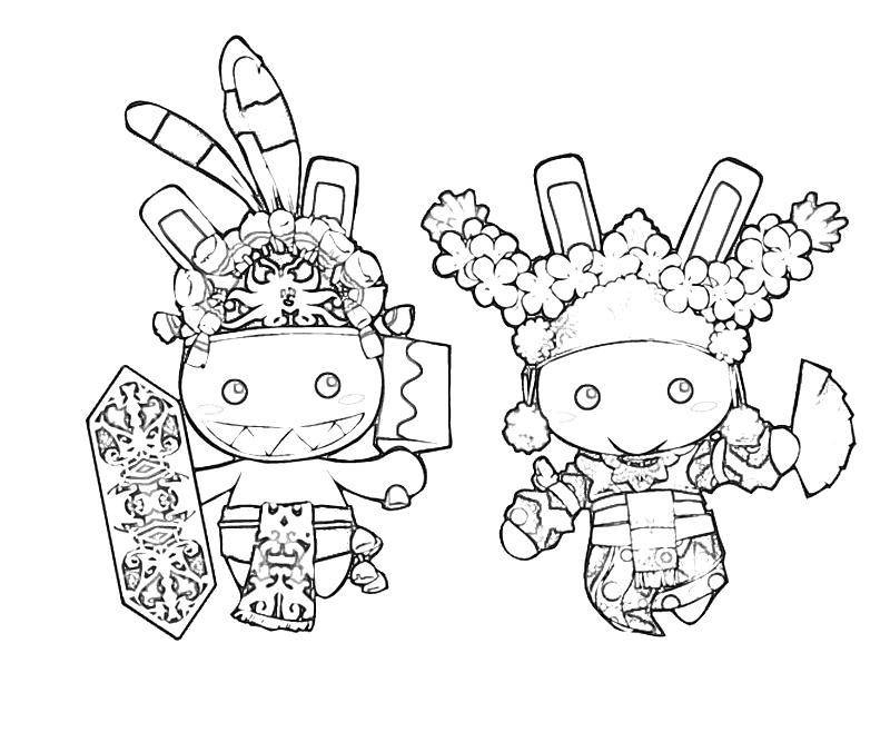 printable-wawa-bunny-tradisional-costume-coloring-pages