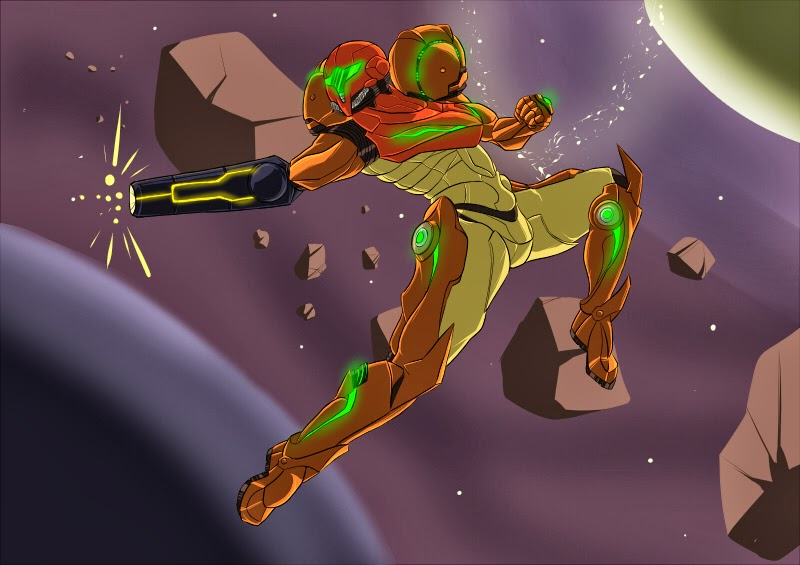 Samus in space