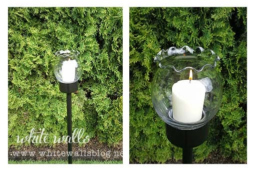 DIY outdoor candle stick White Walls