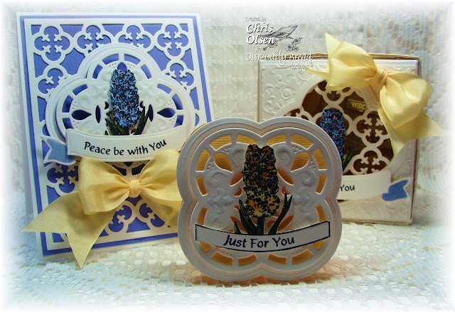 Our Daily Bread Designs, Quatrefoil Pattern Die, Quatrefoil Label Die, Hyacinth, Chris Olsen