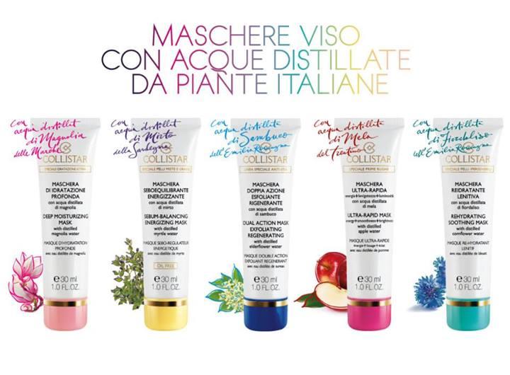 Preview: Maschere Viso Con Acque Distillate di Piante Italiane Collistar
