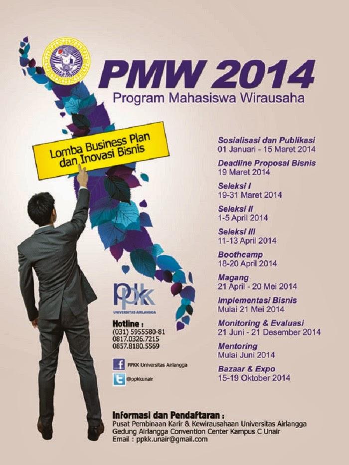 Program Mahasiswa Wirausaha PPKK Universitas Airlangga 2014