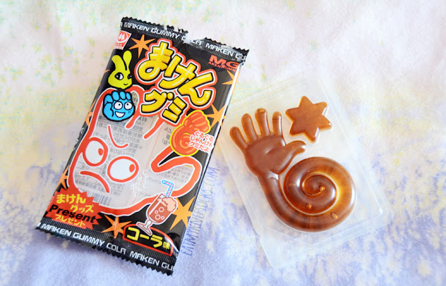 Soda-flavored candy is a unique and memorable Japanese treat, and these Maken Cola Gummies were one of many snacks included in the Skoshbox DEKAbox for September 2015.
