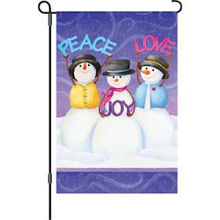 snowmen garden flag
