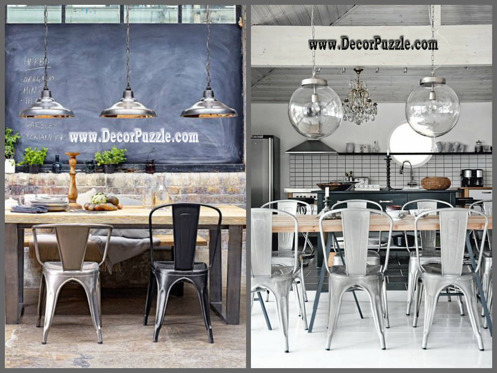 Industrial style kitchen decor and furniture top secrets for Dining table top decor