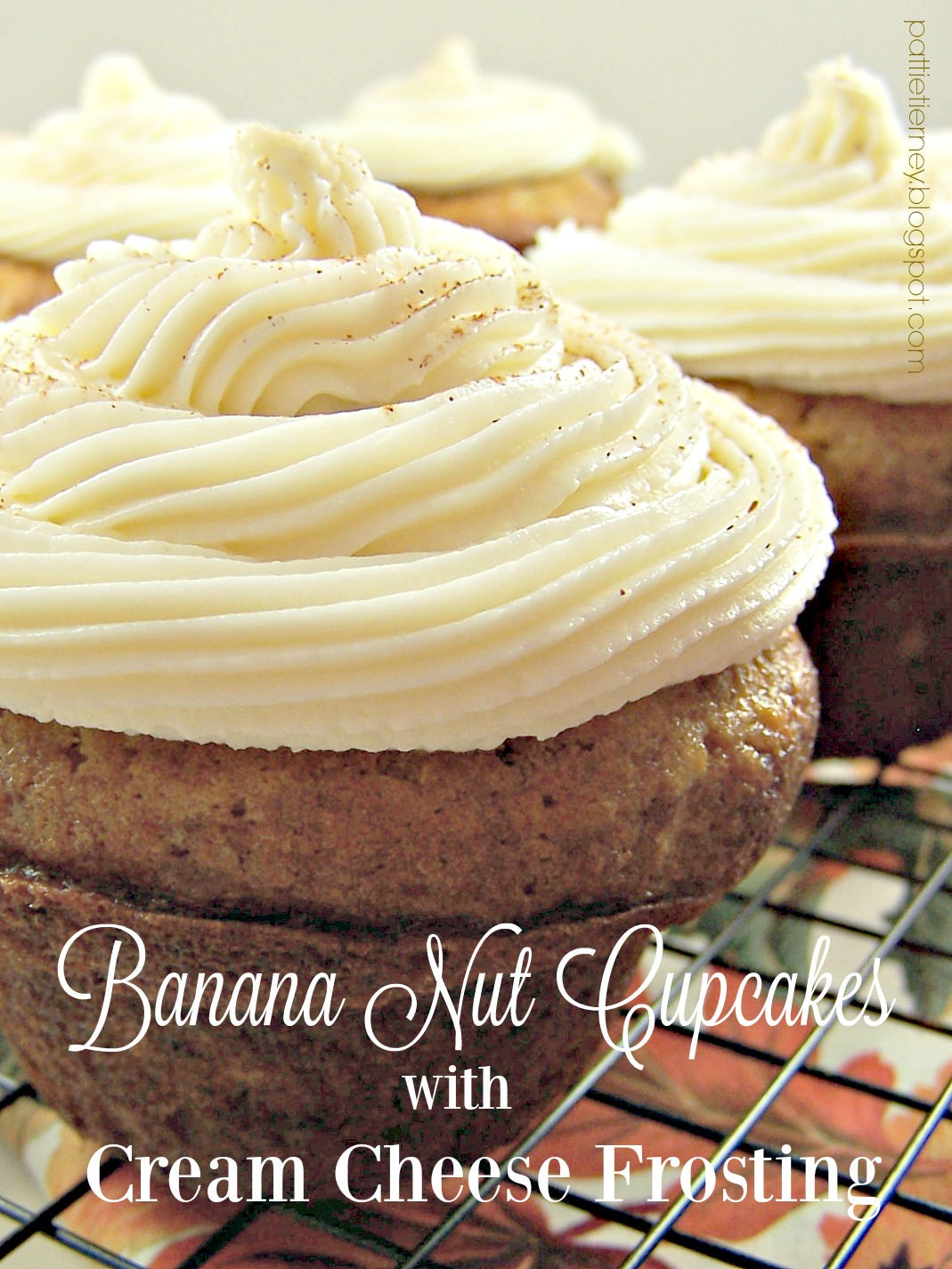 Banana Nut Cupcakes with Cream Cheese Frosting