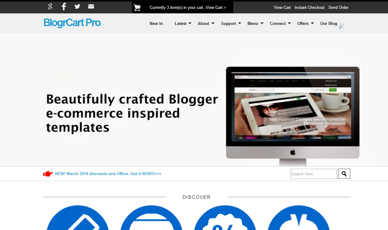 BlogrCart Plus Responsive Blogger Template