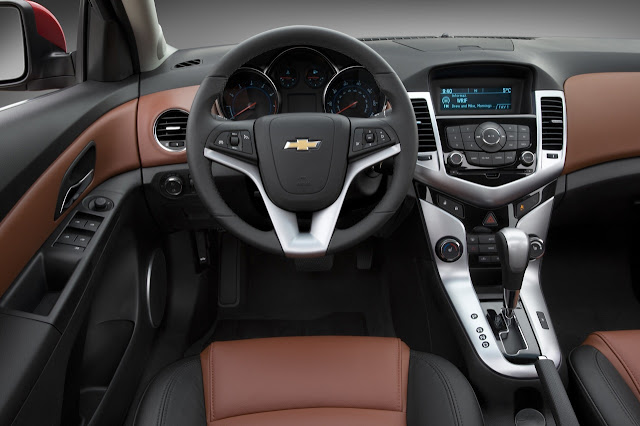 Interior shot of 2011 Chevrolet Cruze LTZ