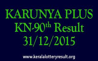 KARUNYA PLUS KN 90 Lottery Result 31-12-2015