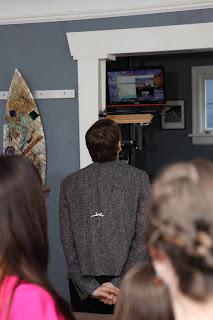 Chris talking to relatives via Skype - Patricia Stimac, Seattle Wedding Officiant