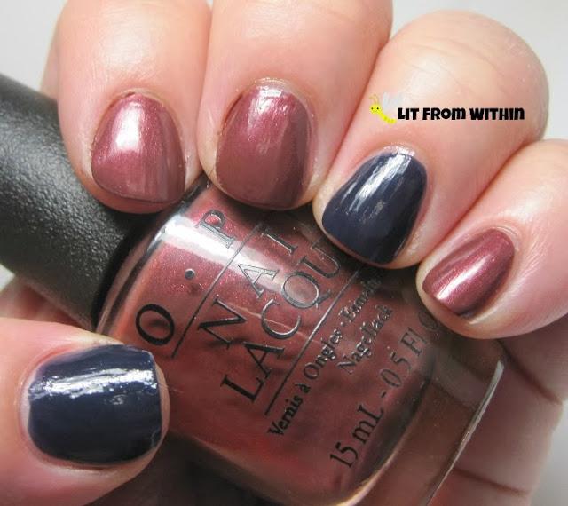 OPI I Knead Sourdough, and Dior Blue Label