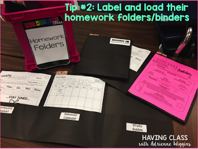 homework folder binder teacher hack back to school organization