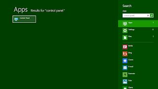 Icon control panel, clik untuk membuka