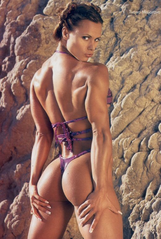She mostly poses in hot bikini and fitness gear. Timea Majorova