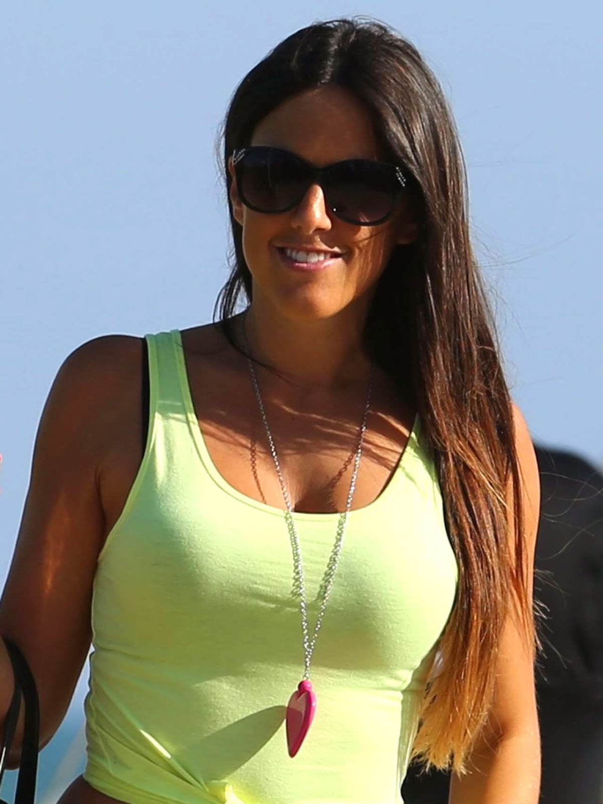 Claudia Romani the Thong Girl in lovely Black Thong and T-Shirt MUST SEE Beauty