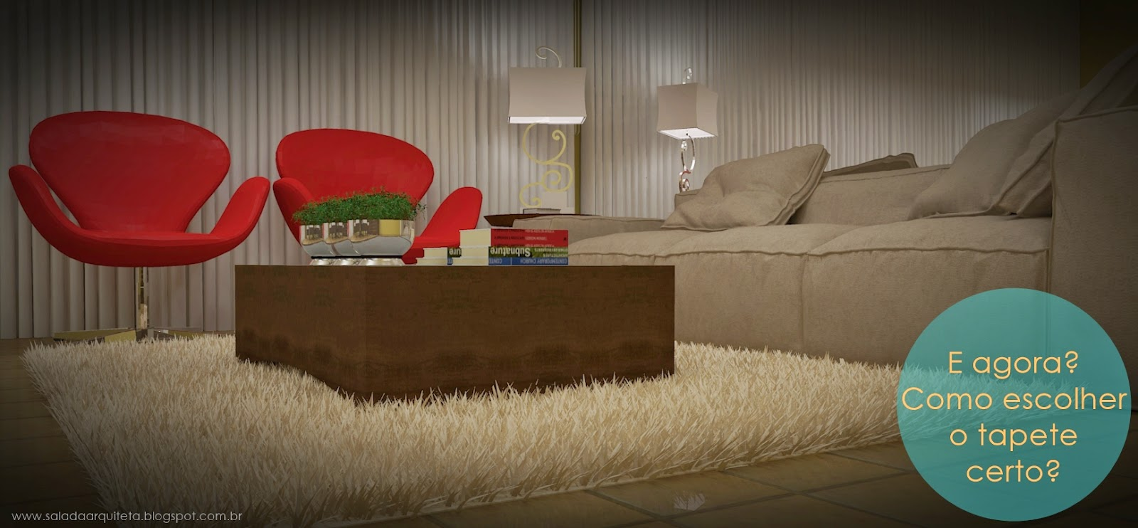 Sala da arquiteta decor tapete para sala de estar for Tapetes para sala de estar 150x200