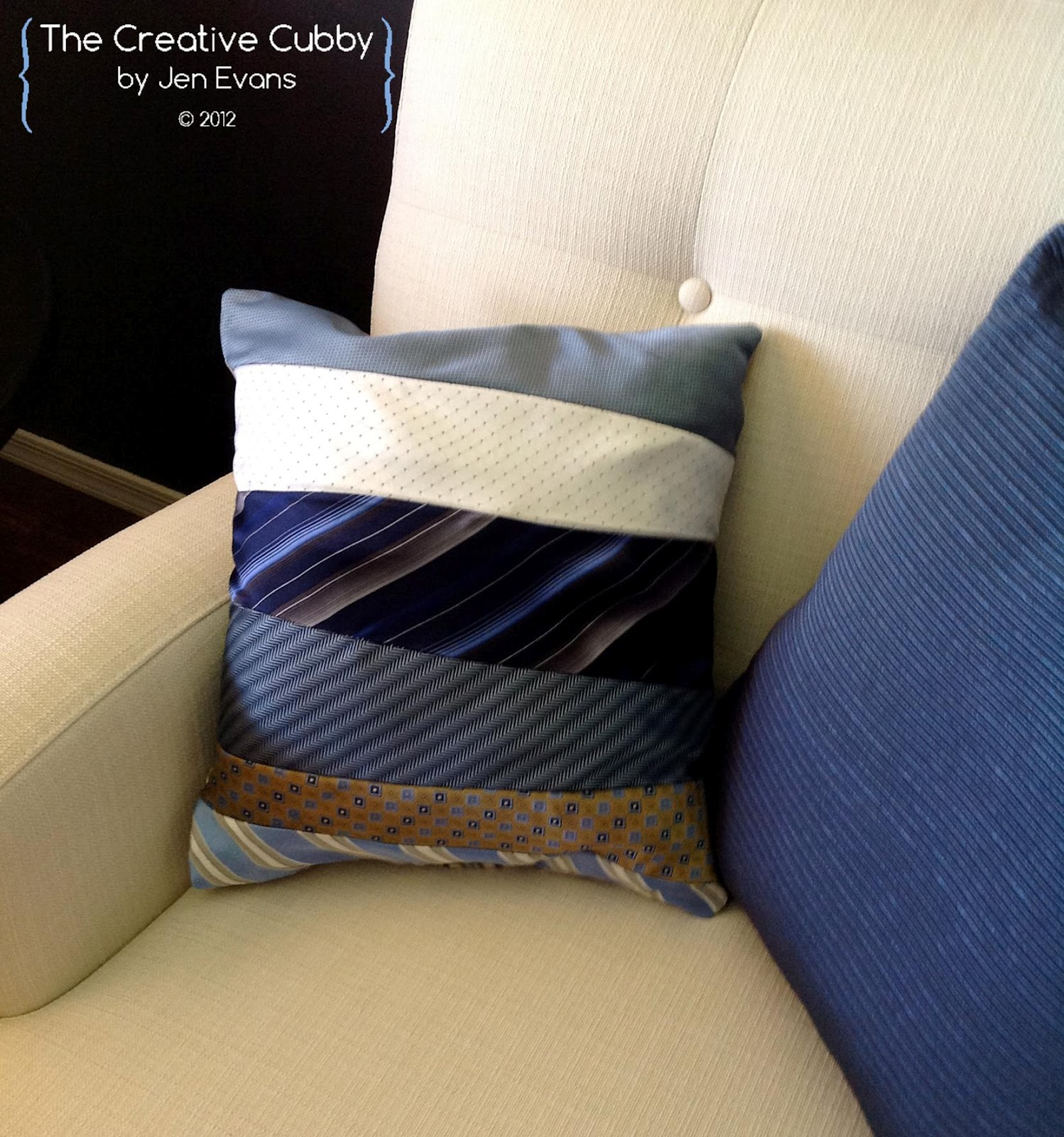 How To Make A Tie Throw Pillow : The Creative Cubby: Preppy Projects Week: Tie Pillow