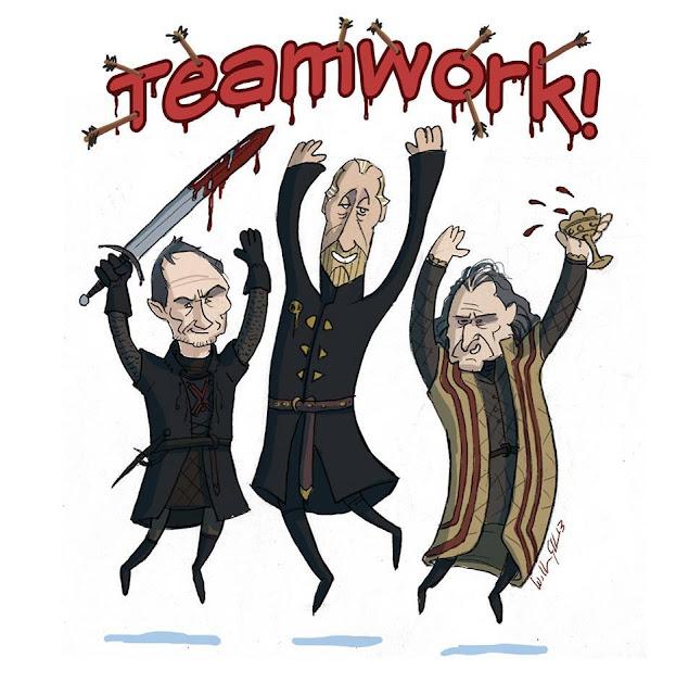 trabajo en equipo lannister frey bolton - Juego de Tronos en los siete reinos