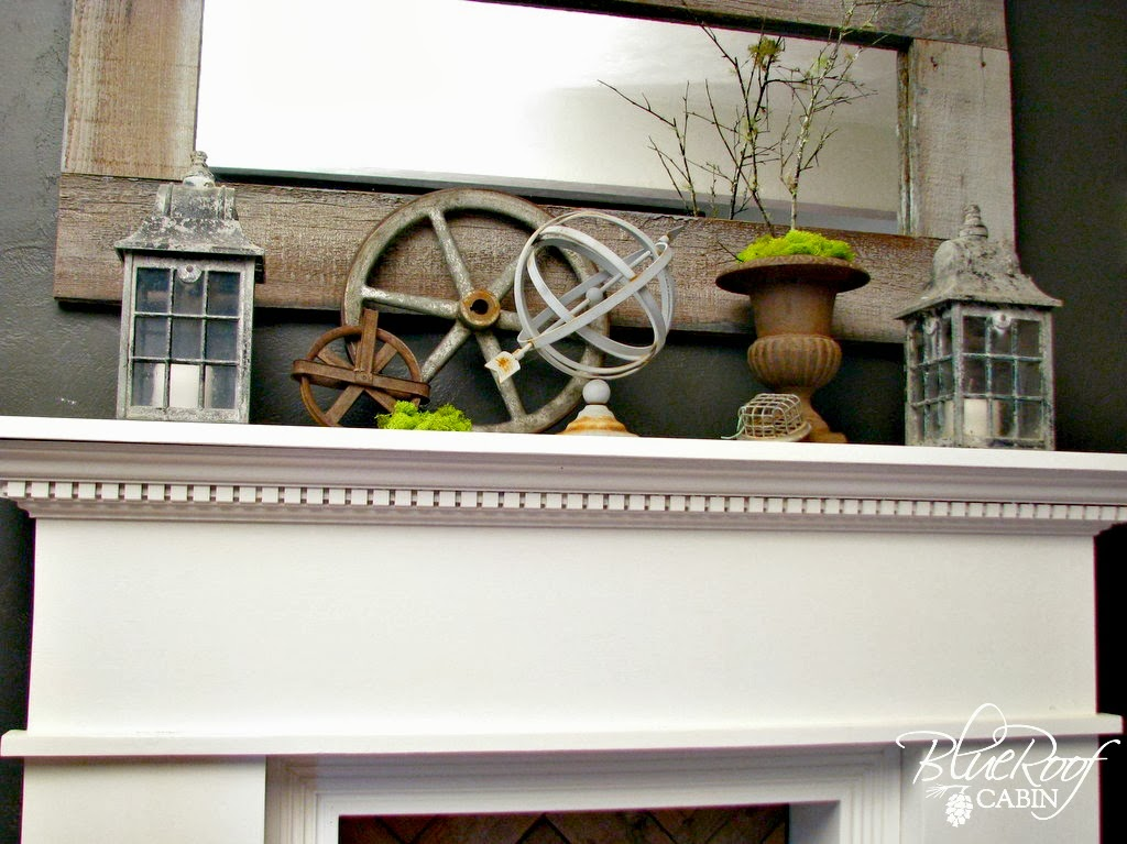 Junk Mantel Decor
