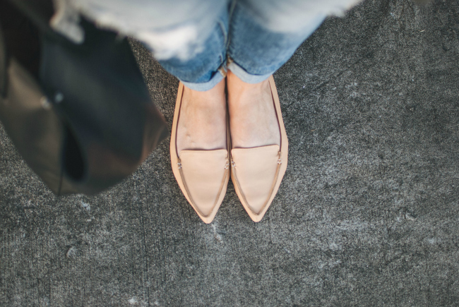 nude loafers