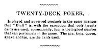 Reference to poker in 1845 Hoyle